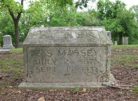 MASSEY, Z S - Jackson County, Arkansas   Z S MASSEY - Arkansas Gravestone Photos