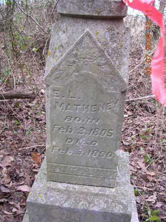 MATHENEY, E L - Jackson County, Arkansas | E L MATHENEY - Arkansas Gravestone Photos