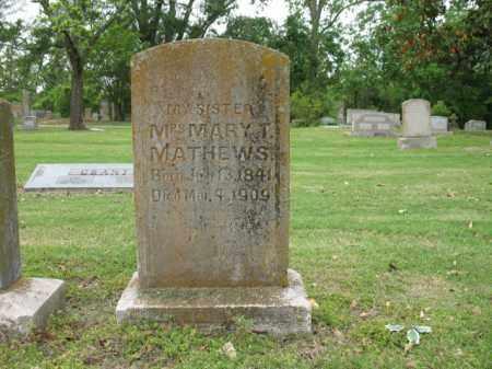 MATHEWS, MARY - Jackson County, Arkansas   MARY MATHEWS - Arkansas Gravestone Photos