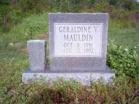 MAULDIN, GERALDINE V - Jackson County, Arkansas | GERALDINE V MAULDIN - Arkansas Gravestone Photos