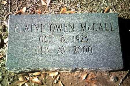 OWEN MCCALL, ELAINE - Jackson County, Arkansas   ELAINE OWEN MCCALL - Arkansas Gravestone Photos