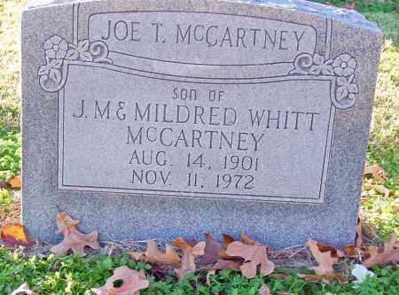 MCCARTNEY, JOE T - Jackson County, Arkansas | JOE T MCCARTNEY - Arkansas Gravestone Photos