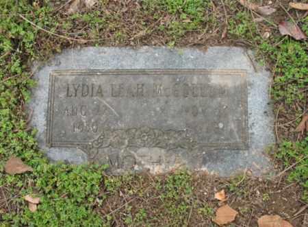 MCCOLLUM, LYDIA LEAH - Jackson County, Arkansas   LYDIA LEAH MCCOLLUM - Arkansas Gravestone Photos