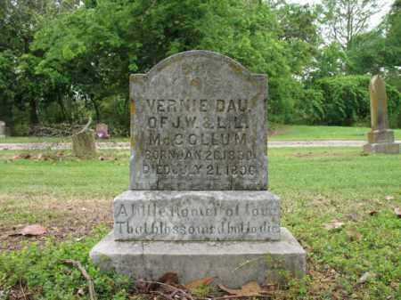 MCCOLLUM, VERNIE - Jackson County, Arkansas   VERNIE MCCOLLUM - Arkansas Gravestone Photos