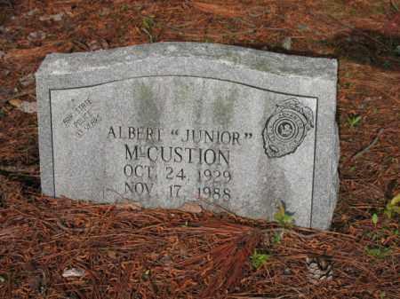 "MCCUSTION, ALBERT ""JUNIOR"" - Jackson County, Arkansas | ALBERT ""JUNIOR"" MCCUSTION - Arkansas Gravestone Photos"