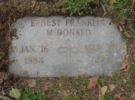 MCDONALD, ERNEST FRANKLIN - Jackson County, Arkansas | ERNEST FRANKLIN MCDONALD - Arkansas Gravestone Photos