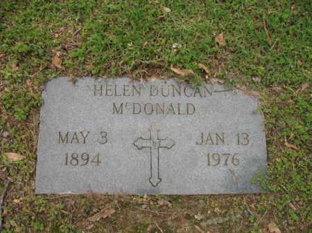 DUNCAN MCDONALD, HELEN - Jackson County, Arkansas | HELEN DUNCAN MCDONALD - Arkansas Gravestone Photos