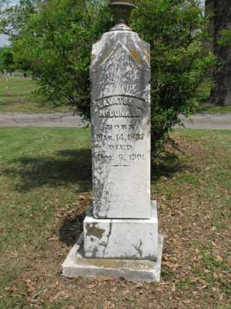 MCDONALD, LAVATOR B - Jackson County, Arkansas   LAVATOR B MCDONALD - Arkansas Gravestone Photos