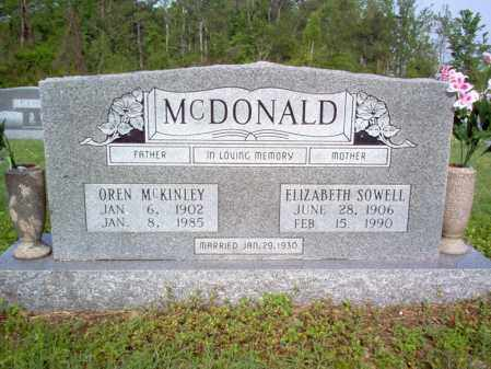 MCDONALD, ELIZABETH - Jackson County, Arkansas | ELIZABETH MCDONALD - Arkansas Gravestone Photos