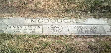 MCDOUGAL, JOHNIE CLIFTON - Jackson County, Arkansas | JOHNIE CLIFTON MCDOUGAL - Arkansas Gravestone Photos