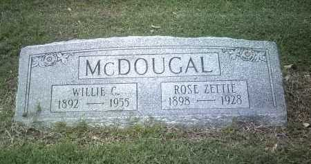 MCDOUGAL, WILLIE C - Jackson County, Arkansas   WILLIE C MCDOUGAL - Arkansas Gravestone Photos