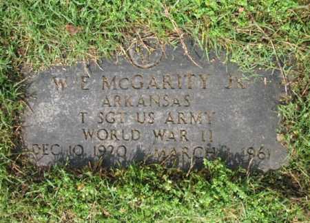 MCGARITY, JR (VETERAN WWII), W E - Jackson County, Arkansas | W E MCGARITY, JR (VETERAN WWII) - Arkansas Gravestone Photos
