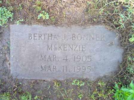 MCKENZIE, BERTHA J - Jackson County, Arkansas | BERTHA J MCKENZIE - Arkansas Gravestone Photos
