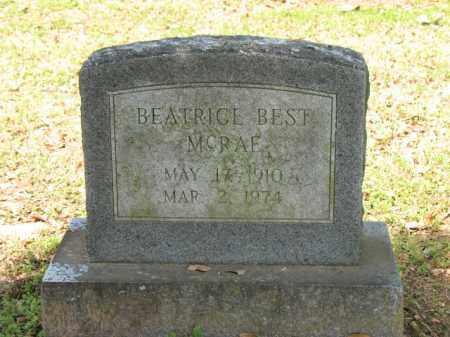 BEST MCRAE, BEATRICE - Jackson County, Arkansas   BEATRICE BEST MCRAE - Arkansas Gravestone Photos