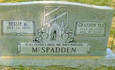 MCSPADDEN, GRAYDON TED - Jackson County, Arkansas   GRAYDON TED MCSPADDEN - Arkansas Gravestone Photos