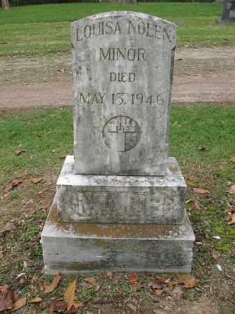 NOLEN MINOR, LOUISA - Jackson County, Arkansas | LOUISA NOLEN MINOR - Arkansas Gravestone Photos