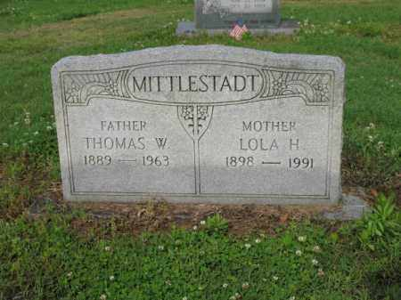 MITTLESTADT, THOMAS W - Jackson County, Arkansas | THOMAS W MITTLESTADT - Arkansas Gravestone Photos