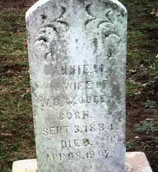 MOORE, ANNIE M - Jackson County, Arkansas   ANNIE M MOORE - Arkansas Gravestone Photos