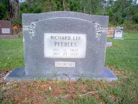 PEEBLES, RICHARD LEE - Jackson County, Arkansas | RICHARD LEE PEEBLES - Arkansas Gravestone Photos