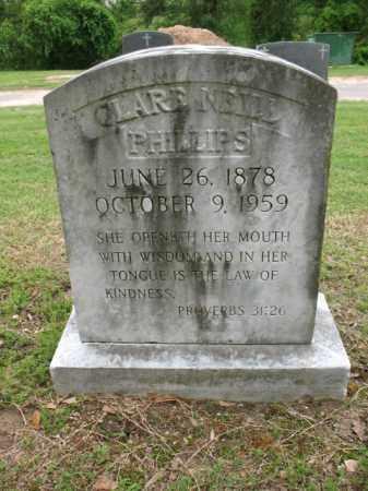 NEILL PHILLIPS, CLARE - Jackson County, Arkansas   CLARE NEILL PHILLIPS - Arkansas Gravestone Photos