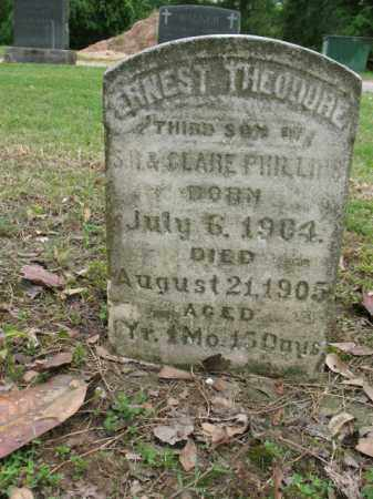 PHILLIPS, ERNEST THEODORE - Jackson County, Arkansas   ERNEST THEODORE PHILLIPS - Arkansas Gravestone Photos