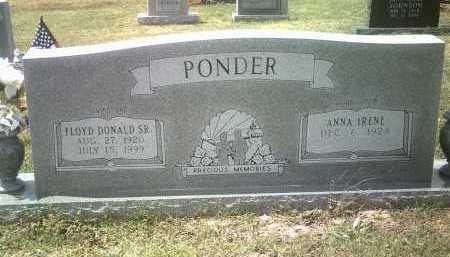 PONDER, SR, FLOYD DONALD - Jackson County, Arkansas   FLOYD DONALD PONDER, SR - Arkansas Gravestone Photos