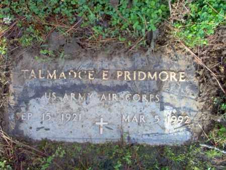 PRIDMORE (VETERAN), TALMADGE EUGENE - Jackson County, Arkansas | TALMADGE EUGENE PRIDMORE (VETERAN) - Arkansas Gravestone Photos