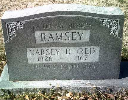 "RAMSEY, NARSEY D  ""RED"" - Jackson County, Arkansas 