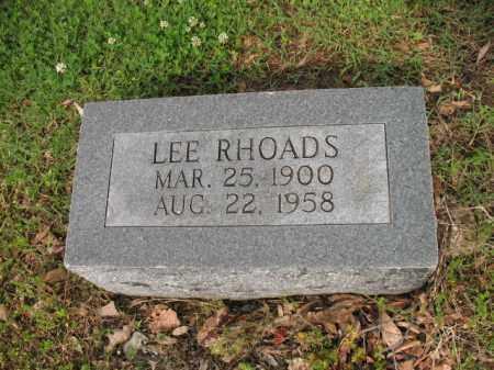 RHOADS, LEE - Jackson County, Arkansas   LEE RHOADS - Arkansas Gravestone Photos