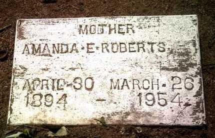 ROBERTS, AMANDA E - Jackson County, Arkansas | AMANDA E ROBERTS - Arkansas Gravestone Photos