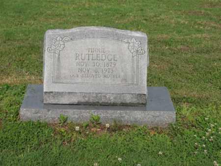 RUTLEDGE, TINNIE - Jackson County, Arkansas | TINNIE RUTLEDGE - Arkansas Gravestone Photos