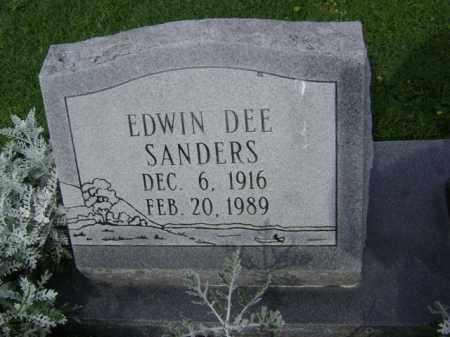 SANDERS, EDWIN DEE - Jackson County, Arkansas | EDWIN DEE SANDERS - Arkansas Gravestone Photos