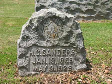 SANDERS, H C - Jackson County, Arkansas   H C SANDERS - Arkansas Gravestone Photos