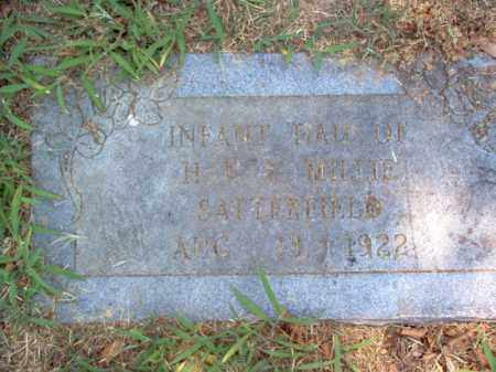 SATTERFIELD, INFANT DAUGHTER - Jackson County, Arkansas | INFANT DAUGHTER SATTERFIELD - Arkansas Gravestone Photos
