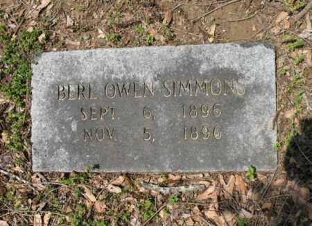 SIMMONS, BERL OWEN - Jackson County, Arkansas | BERL OWEN SIMMONS - Arkansas Gravestone Photos