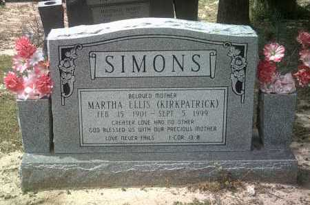 SIMONS, MARTHA ELLIS - Jackson County, Arkansas | MARTHA ELLIS SIMONS - Arkansas Gravestone Photos
