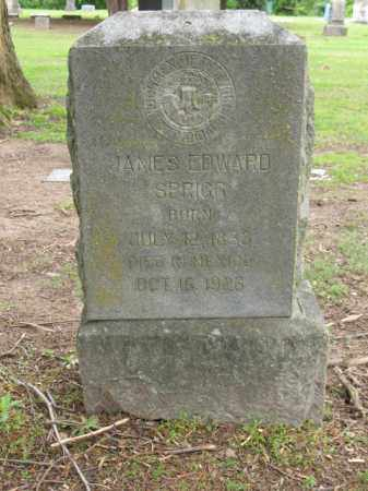 SPRIGG, JAMES EDWARD - Jackson County, Arkansas | JAMES EDWARD SPRIGG - Arkansas Gravestone Photos