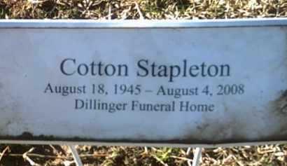 STAPLETON, COTTON - Jackson County, Arkansas   COTTON STAPLETON - Arkansas Gravestone Photos