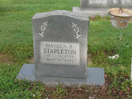 STAPLETON, HAYDEN R - Jackson County, Arkansas | HAYDEN R STAPLETON - Arkansas Gravestone Photos