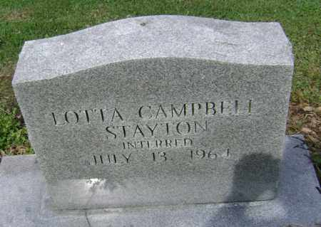 CAMPBELL STAYTON, LOTTA - Jackson County, Arkansas | LOTTA CAMPBELL STAYTON - Arkansas Gravestone Photos