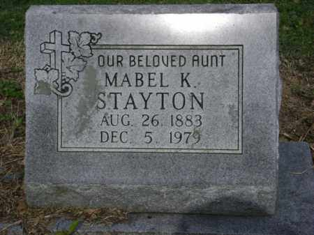 STAYTON, MABEL K - Jackson County, Arkansas | MABEL K STAYTON - Arkansas Gravestone Photos