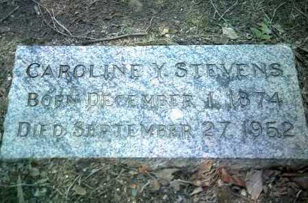 STEVENS, CAROLINE Y - Jackson County, Arkansas | CAROLINE Y STEVENS - Arkansas Gravestone Photos