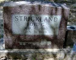 STRICKLAND, BOYD G - Jackson County, Arkansas   BOYD G STRICKLAND - Arkansas Gravestone Photos