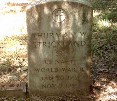 STRICKLAND (VETERAN WWII), THURMAN W - Jackson County, Arkansas | THURMAN W STRICKLAND (VETERAN WWII) - Arkansas Gravestone Photos