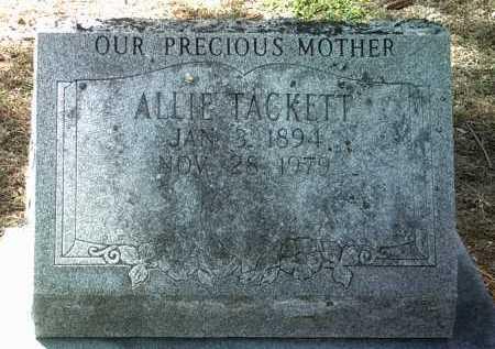 TACKETT, ALLIE - Jackson County, Arkansas | ALLIE TACKETT - Arkansas Gravestone Photos