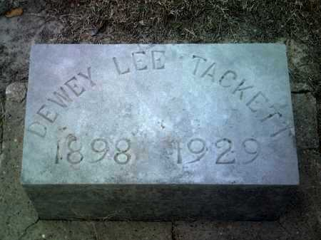 TACKETT, DEWEY LEE - Jackson County, Arkansas | DEWEY LEE TACKETT - Arkansas Gravestone Photos