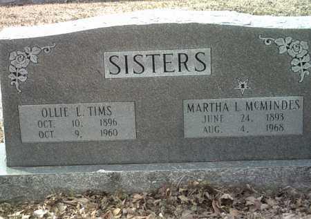 MCMINDES, MARTHA L - Jackson County, Arkansas | MARTHA L MCMINDES - Arkansas Gravestone Photos