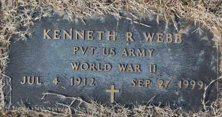 WEBB (VETERAN WWII), KENNETH R - Jackson County, Arkansas | KENNETH R WEBB (VETERAN WWII) - Arkansas Gravestone Photos