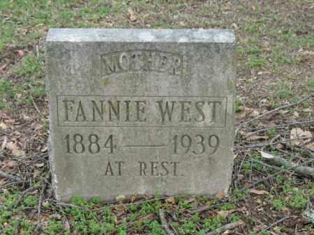 WEST, FANNIE - Jackson County, Arkansas   FANNIE WEST - Arkansas Gravestone Photos