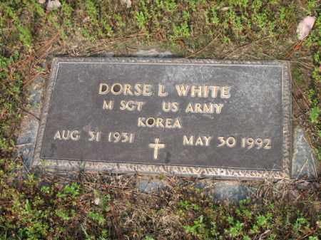 WHITE (VETERAN KOR), DORSE L - Jackson County, Arkansas | DORSE L WHITE (VETERAN KOR) - Arkansas Gravestone Photos